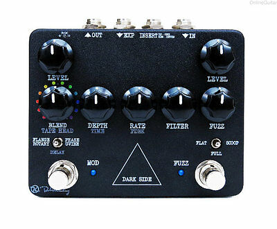 NEW KEELEY DARK SIDE ROTARY PHASER FUZZ DELAY VIBE PEDAL w/ FREE CABLE 0$ US S&H