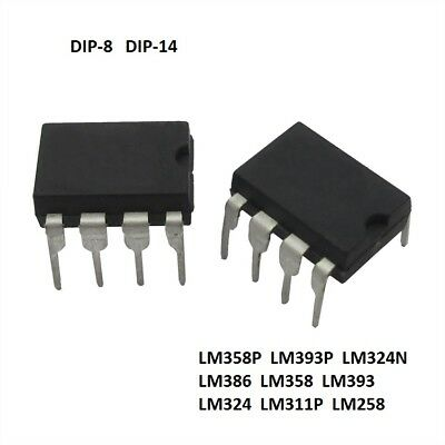 Operational Amplifier IC LM358 LM393 LM324 LM386 LM258 DIP - Free P&P New!!