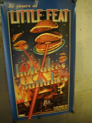 LITTLE FEAT Great Looking PROMO POSTER from HOTCAKES mint condition