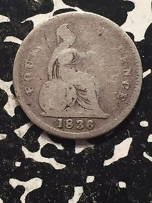 1836 Great Britain 4 Pence Groat Lot#1693 Silver!