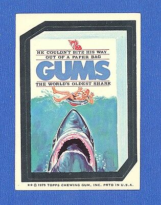 1975 Topps Original  Wacky Packages 15th Series Gums white back