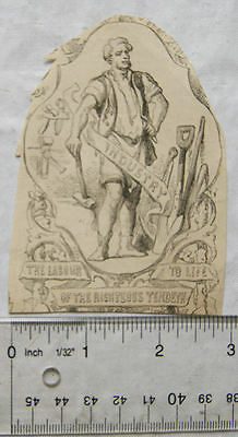 Vintage: small engraving - Industry, The Labour of the Righteous Tendeth to Life