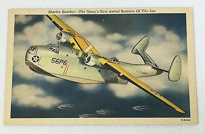 WWII US Navy Martin Bomber Post Card
