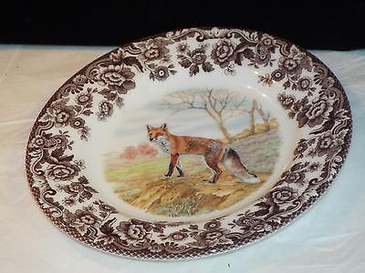 Spode Woodland RED FOX DESSERT PLATE Made England NEW.