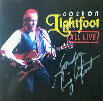 Gordon Lightfoot Autographed Cd And Booklet All Live Signed Coa Proof Two Autos!