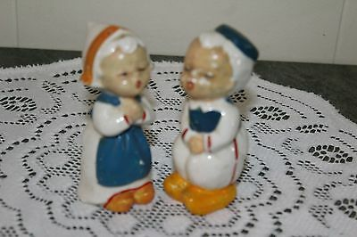 Vintage...ceramic....kissing Dutchman....salt & Pepper Shakers- Japan