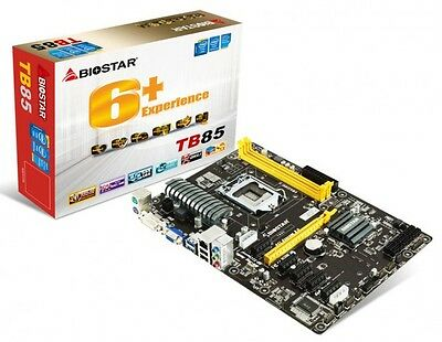 BIOSTAR TB85 LGA 1150 Intel B85 Motherboard ETH ZCASH ZEC 3 YEAR WARRANTY