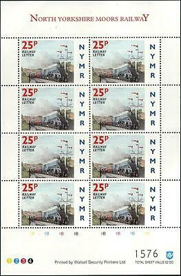 LNER Class A4 SIR NIGEL GRESLEY NYMR Railway Letter Train Stamp Sheet/1996/MS79