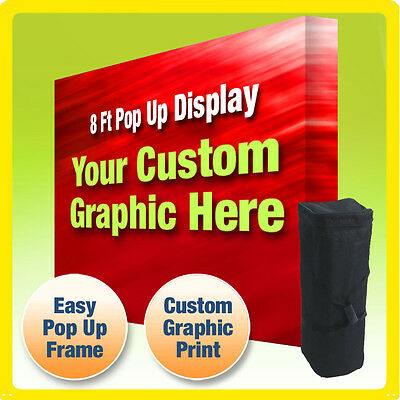8 Ft Custom Trade Show Display Booth Backdrop Straight Pop Up