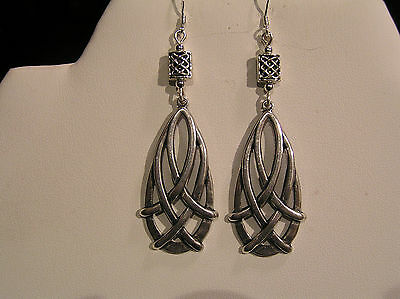 *new Item On Sale Now* Handcrafted Celtic Weave Drop Earrings.silv