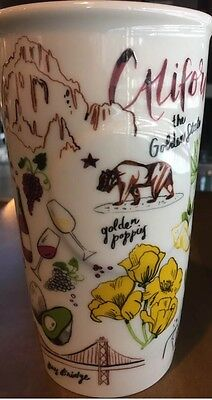 [SoCal] NWT 2016 Summer New Starbucks CALIFORNIA Travel Ceramic Cup 12 Oz