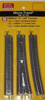 Z Scale MTL 990 40 910 r490mm 13 Deg. Left Turnout / Switch Track