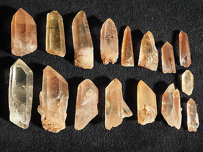 A Big Lot of Small 100% Natural Quartz Crystals with Hematite Brazil 128gr