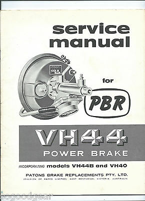 PBR SERVICE MANUAL VH44 POWER BRAKE 1964 REPCO 22 pages