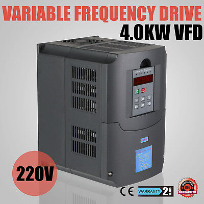 New 4Kw Variable Frequency Drive Inverter Vfd Vsd 4.0Kw 5Hp 220V Us Shipping Hy