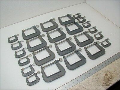 (24) Hargrave C Clamps 1 1/4 & 2 1/2