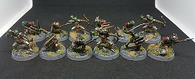 12 x MORIA Goblin Warriors pro painted plastic models LOTR The Hobbit