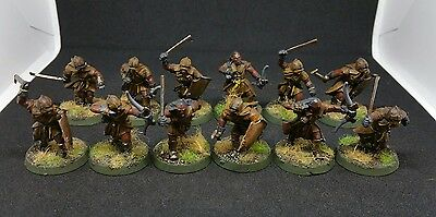 12 x Orc Uruk-hai Scouts pro painted plastic models LOTR The Hobbit