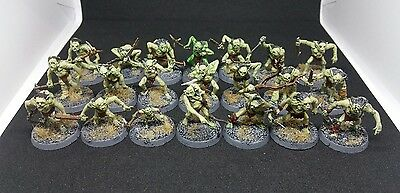 21 x Goblin Town Warriors includes 2 Captains & Grinnar with Whip The Hobbit