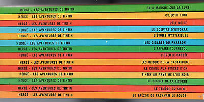 LOT 14 BDs TINTIN ¤ EDITION C1 ¤ 1975/1976 HERGE/CASTERMAN