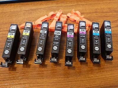 8 Canon  ink cartridges 526 (empty)