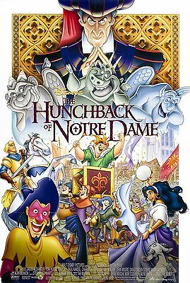 The Hunchback Of Notre Dame Laminated Mini Movie Poster Disney A4 Print