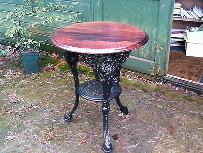 Conservatory / garden pub table with cast iron base