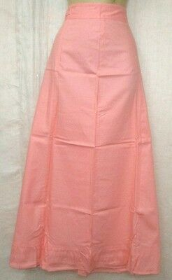 Light Peach Pure Cotton Frill Petticoat Skirt Full Length Quality buying #OH2YU