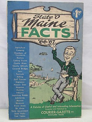 Vintage State O' Maine Facts Book 1966-1967 Courier Gazette Rockland Useful Info