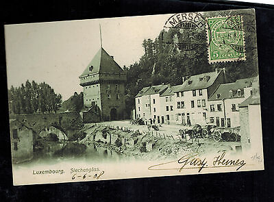 1908 Mersch Luxembourg Real Picture Postcard Cover to USA Siechengass