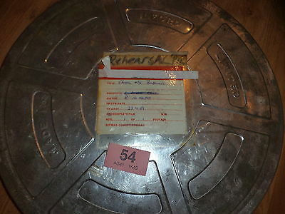 Vintage Film Reel In Tin '' China & The Barbarians  '' Rehearsal