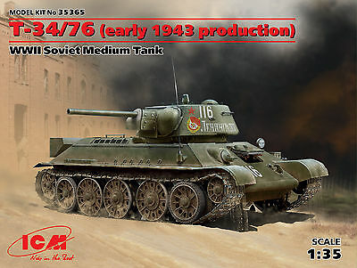 ICM 35365 T-34/76 Early 1943 Produktion in 1:35