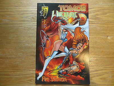 1995 Crusade Comics Tomoe Witchblade # 1 Signed 2X Billy Tucci & Jamal Igle, Poa