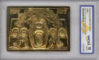Kiss 24Kt Gold Card Gene Simmons Psycho Circus Album Cover Hard Rock n Roll USA