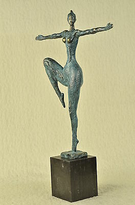 Signed Original Abstract Nude Female Bronze Modern Art Sculpture Statue LARGE