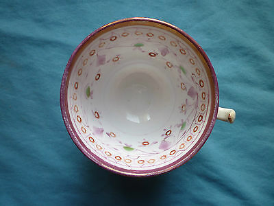Pretty Vintage Hand Painted Lustre Decorated Bone China Cup