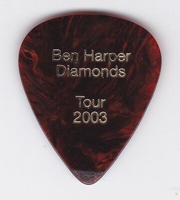 2003 Ben Harper Diamonds Tour Nicki P Signature Logo Guitar Pick