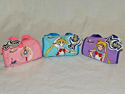 "New With Tags 1999 Lot Of 3 Sailor Moon Coin Purse Small Duffle Bag 2"" X 3"""