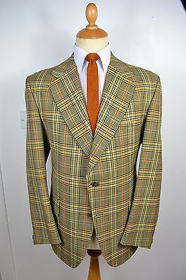 VINTAGE 1970's GIEVES SAVILE ROW BY APPONTMENT WOOL BLAZER JACKET LARGE 44 REG