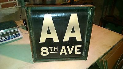 Vintage Nyc Subway Complete Roll Sign Original Box Collectible Transit History