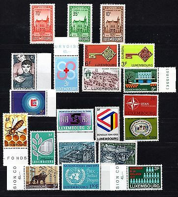 Luxembourg (311)  Selection of Mint  stamps as per scan please
