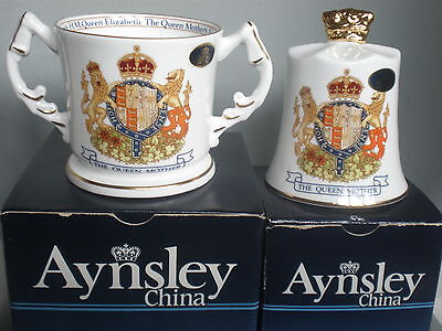 Aynsley The Queen Mother Loving Cup & Bell - Queen Mother's 90Th Birthday 1990