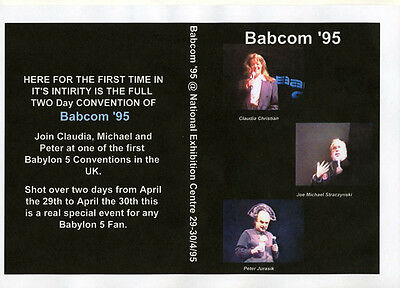 Babcon 95 4 DVD Convention Set. Very Rare, JMS, Peter Jurasik and Claudia Christ