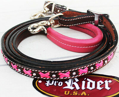 Horse 8ft Contest Western Tack Barrel Leather Rein 6634
