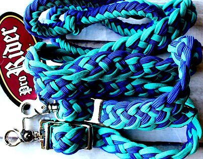 Horse Lot 12 Roping Knotted Tack Western Barrel Reins Nylon Braided 60785Bulk