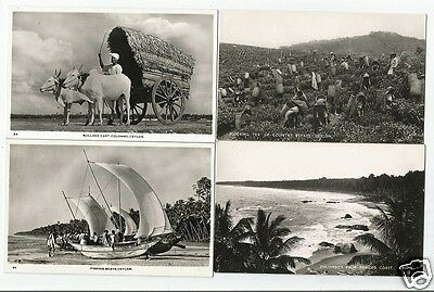 EQA 4 Early Ethnic Postcards, Ceylon