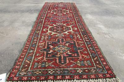1'11X5'6 hand knotted tribal Persian Rug Vintage Woolen  Oriental Carpet  67