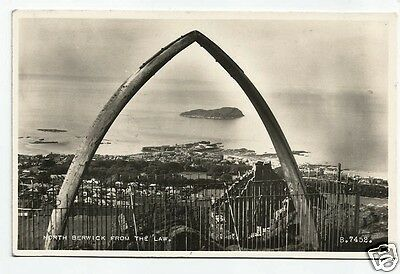 EVM Early Postcard, Berwick from the Law, shows Wales Jawbone 1953