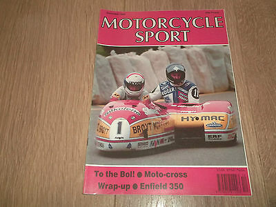 Motorcycle Sport Magazine December 1989 ~ Enfield India 350 / Grand Prix