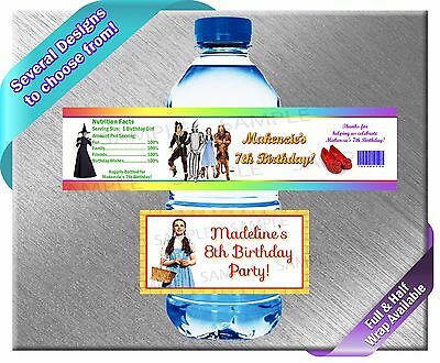 Wizard of Oz Wicked ~ Water Bottle Labels ~ Birthday Party Baby Shower Supplies